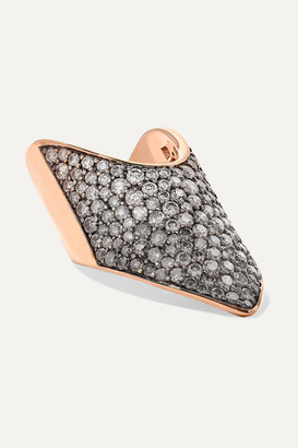 Diane Kordas 18-karat Rose Gold Diamond Ring - 3