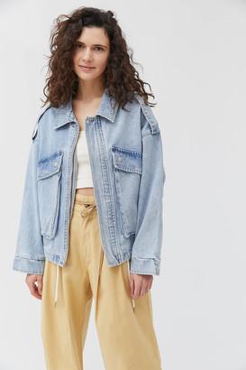 Neon Blonde High Flyer Denim Jacket