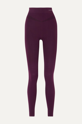 FALKE ERGONOMIC SPORT SYSTEM Stretch-knit Leggings - Merlot