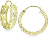 Giani Bernini Cut-Out Textured Hoop Earrings in 18k Gold-Plated Sterling Silver, Only at Macy's