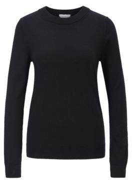 BOSS Crew-neck sweater in virgin wool