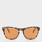 Paul Smith Brown Confetti And Peach Gold Mirror 'Hoban' Sunglasses