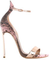 Casadei leopard print sandals - women - Leather - 35
