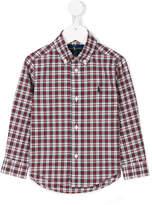 Ralph Lauren logo embroidered check shirt