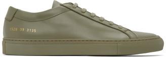 Common Projects Khaki Original Achilles Low Sneakers