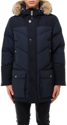 Woolrich Fur Trimmed Hooded Padded Parka