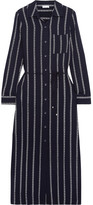 Splendid Rope Striped Voile Midi Dress - Navy