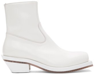 Ion White Squared Boots