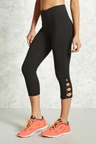 Forever 21 Active Cutout Capri Leggings