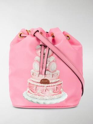 Moschino Graphic Print Bucket Bag