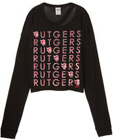 PINK Rutgers University Long Sleeve Campus Cutout Tee