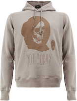 Undercover Not Today skull print hoodie