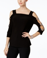 MSK Petite Split-Sleeve Top