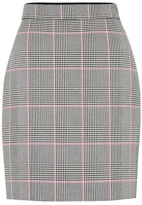 MSGM Check cotton-blend miniskirt