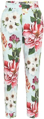Dolce & Gabbana Floral high-rise straight pants