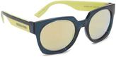 McQ by Alexander McQueen Alexander McQueen Geometric Colorblock Sunglasses