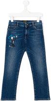 Dolce & Gabbana jazz embroidered jeans - kids - Cotton/Spandex/Elastane - 4 yrs