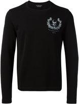 Alexander McQueen wreath skull print sweatshirt - men - Cotton - S