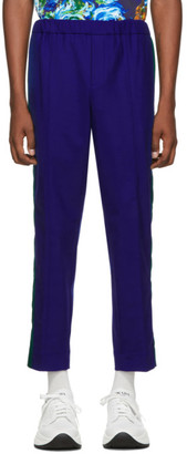 Kenzo Blue Cropped Sideband Trousers