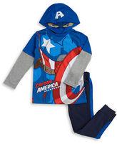 Nannette Boys 2-7 Captain American Top and Sweatpants Set