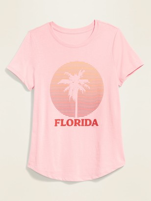 Old Navy Florida Graphic Soft-Washed Tee for Women