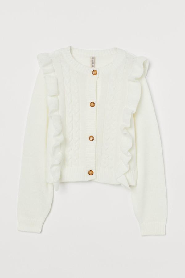 H&M Flounce-trimmed cardigan