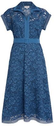 Claudie Pierlot Belted Lace Midi Dress