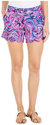 Lilly Pulitzer Buttercup Knit Shorts (Raz Berry Flamingoals) Women's Shorts