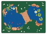 Carpets For Kids 3000 The Pond 5.83 ft. x 8.33 ft. Rectangle Carpet