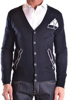 Frankie Morello Men's Blue Cotton Cardigan.