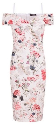 Dorothy Perkins Womens **Girls On Film Ivory Bardot Bodycon Cotton Mix Dress, Ivory