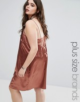 Alice & You Metallic Satin Slip Dress