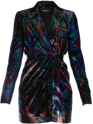 DSQUARED2 Padded Shoulder Mini Dress