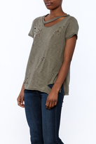 Emory Park Distressed Short Sleeve Top
