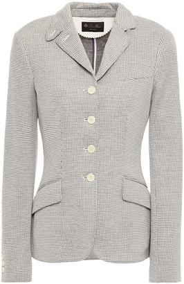 Loro Piana Northampton Houndstooth Cotton-blend Jersey Blazer