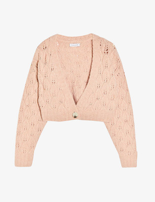 Topshop Cropped knitted cardigan