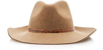 Eric Javits Western Leather-Trimmed Wool Fedora