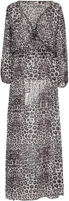 Marie France Van Damme Embellished Silk Chiffon Maxi Dress