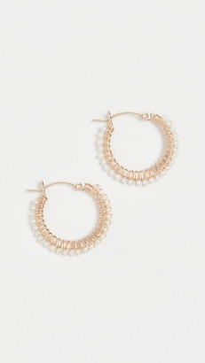 Beck Jewels Mini Pearls Parker Hoops