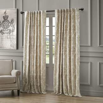 "Waterford Juniper Back Tab/Rod Pocket Curtain Panel, 54"" x 84"""