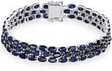 Macy's Sapphire Three-Row Bracelet (25 ct. t.w.) in Sterling Silver