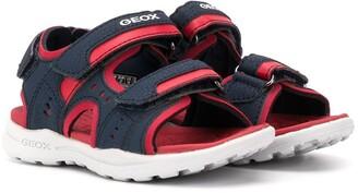 Geox Kids Logo Touch Strap Sandals