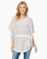 Charming charlie Wild Ones Bow Sweater Poncho