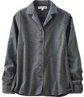 Uniqlo Women Idlf Flannel Open Collar Long Sleeve Shirt