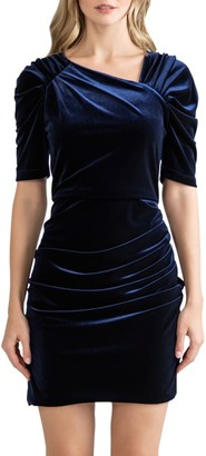 Shoshanna Allen Velvet Mini Dress
