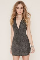 Forever 21 FOREVER 21+ Glitter Knit Bodycon Dress