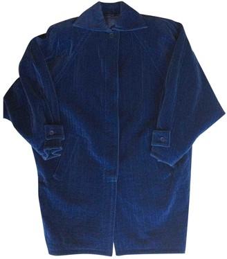 Versace Blue Velvet Coat for Women Vintage