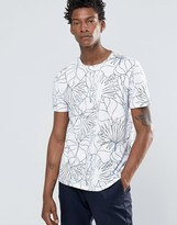 Celio Crew Neck Tshirt with All Over Jungle Print