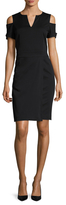 Ava & Aiden Cut-Out Shoulder Sheath Dress
