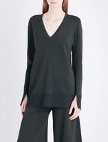 Theory Britona V-neck knitted jumper